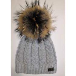 Winter gestrickte Wollmütze weiß 1