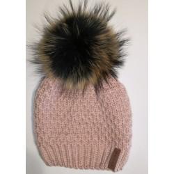 Winter Strickmütze rosa