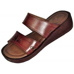 Dámske kožené sandále Maatkare s klinom