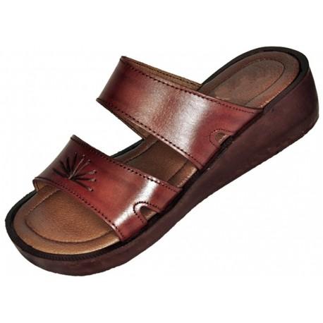 b2ed00187344 Dámské kožené sandály Maatkare na klínku - Faraon-sandals.cz