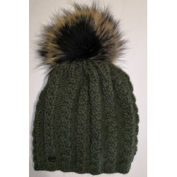 Winter Strickmütze Jägergrün