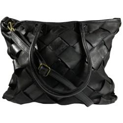 Kožená kabelka Vintage A208 černá