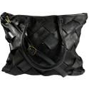 Kožená kabelka Vintage A208 čierna