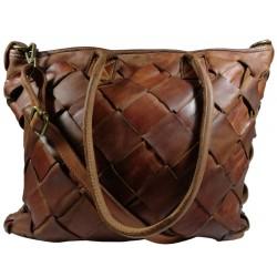 Kožená kabelka Vintage A208 hnědá