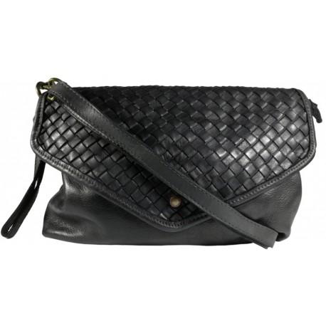 Leather handbag Vintage 5561A black