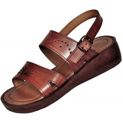 Women's leather sandals Ramesses with wedge