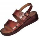 Dámske kožené sandále Ramesse s klinom