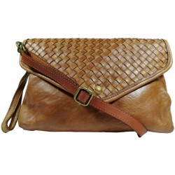 Leather handbag Vintage 5561A brown