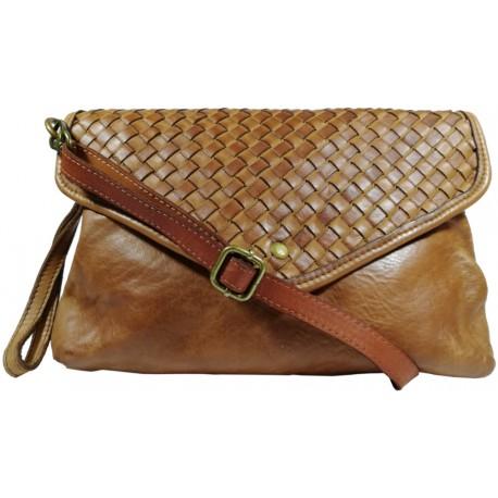 Leather handbag Vintage 5561A brown