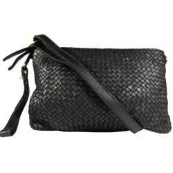 Kožená kabelka Vintage 5584A čierna