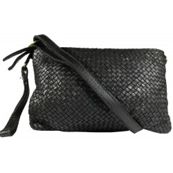 Lederhandtasche Vintage 5584A schwarz