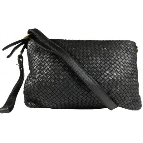 Leather handbag Vintage 5584A black
