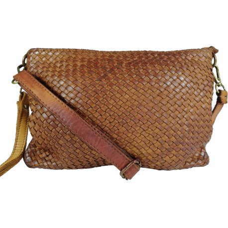 Leather handbag Vintage 5584A brown