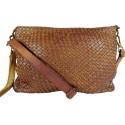 Kožená kabelka Vintage 5584A hnedá
