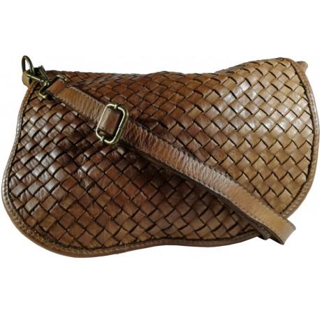 Leather handbag Vintage 5757A brown