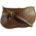 Kožená kabelka Vintage 5757A hnedá