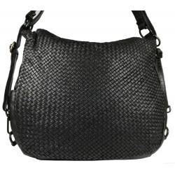 Lederhandtasche Vintage 5759A schwarz