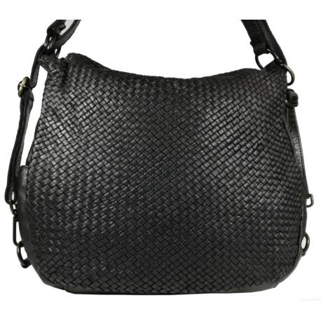 Kožená kabelka Vintage 5759A černá