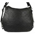 Kožená kabelka Vintage 5759A čierna