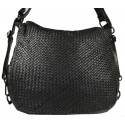 Leather handbag Vintage 5759A black