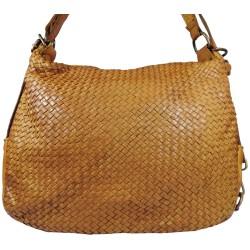 Kožená kabelka Vintage 5759A hnedá