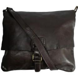 Leather handbag Vintage 5794A black