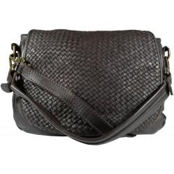 Lederhandtasche Vintage 5795A schwarz