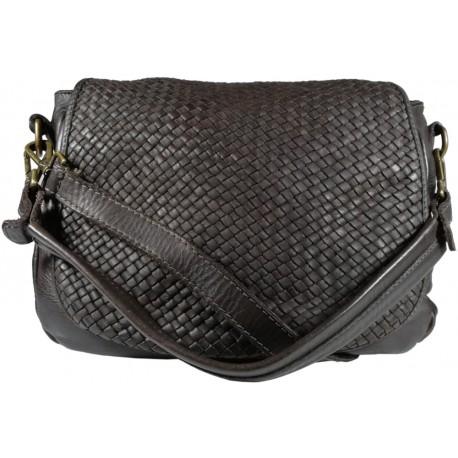 Leather handbag Vintage 5795A black