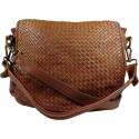 Kožená kabelka Vintage 5795A hnedá