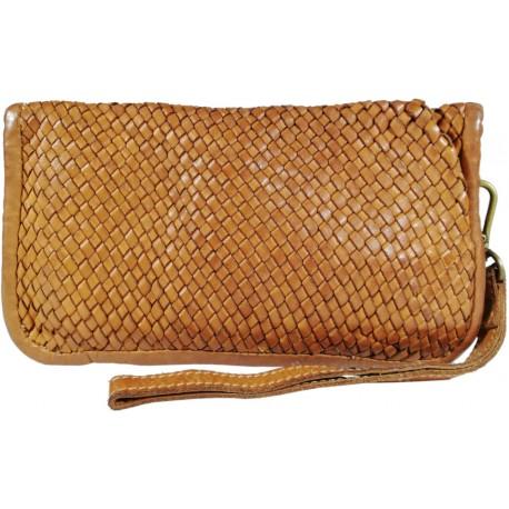 Leather handbag Vintage A093 brown