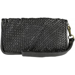 Lederhandtasche Vintage A093 schwarz