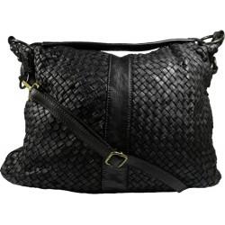 Kožená kabelka Vintage A100 čierna