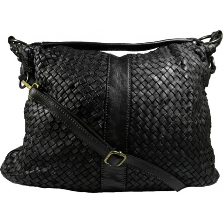Kožená kabelka Vintage A100 černá