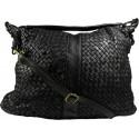 Lederhandtasche Vintage A100 schwarz