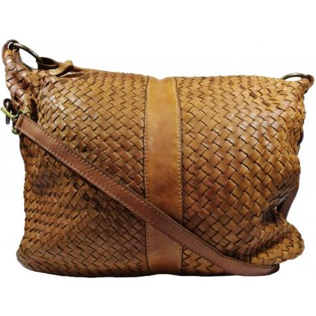 Kožená kabelka Vintage A100 hnedá