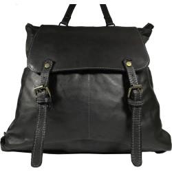 Kožený batoh Vintage a209 černý