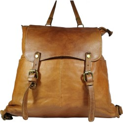 Vintage leather backpack A100 brown