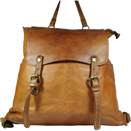Kožený batoh Vintage A100 hnědá