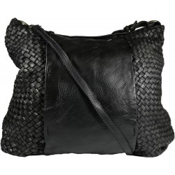 Leather handbag Vintage A267 black