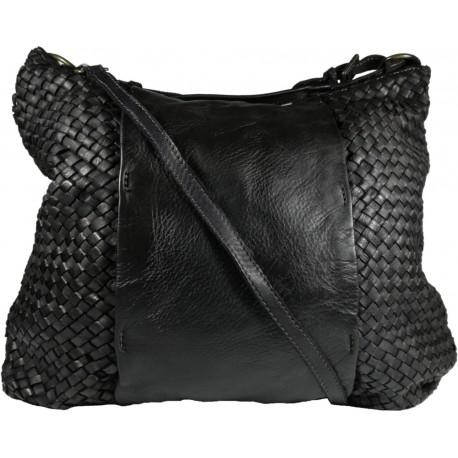 Kožená kabelka Vintage A267 černá
