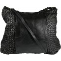 Lederhandtasche Vintage A267 schwarz
