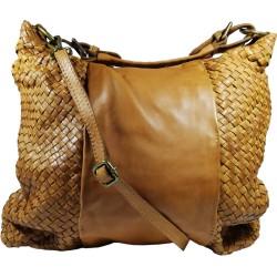 Kožená kabelka Vintage A267 hneda