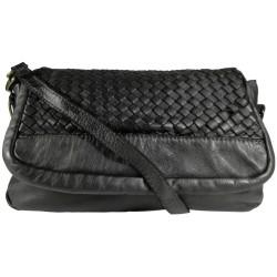 Kožená kabelka Vintage A269 čierna
