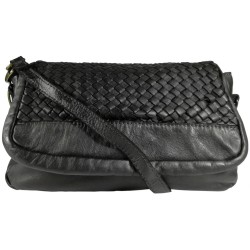 Leather handbag Vintage A269 black