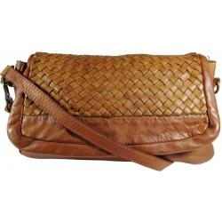 Kožená kabelka Vintage A269 hnedá