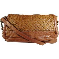 Leather handbag Vintage A269 brown