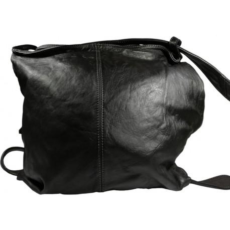 Kožená kabelka Vintage A280 čierna
