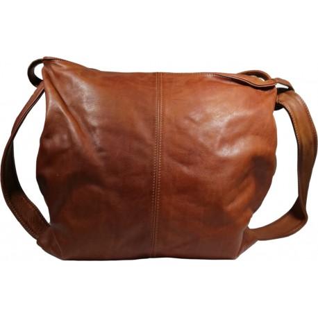 Kožená kabelka Vintage A280 hnedá