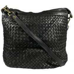 Kožená kabelka Vintage A281 černá