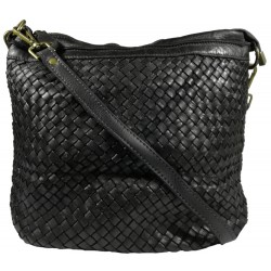 Kožená kabelka Vintage A281 čierna